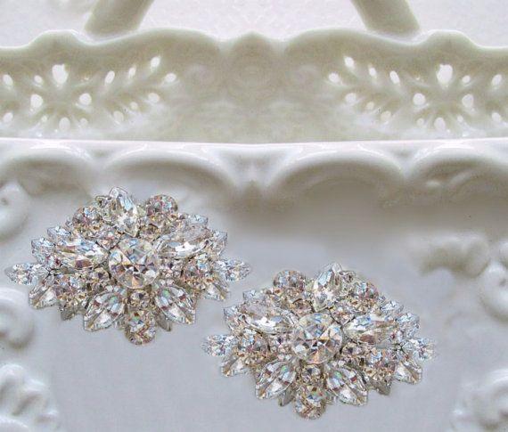 Wedding Shoe Clips, rhinestone shoe clip, wedding accessories, crystal shoe clips, Vintage Style, Bridal shoe clips, bridal Accessories