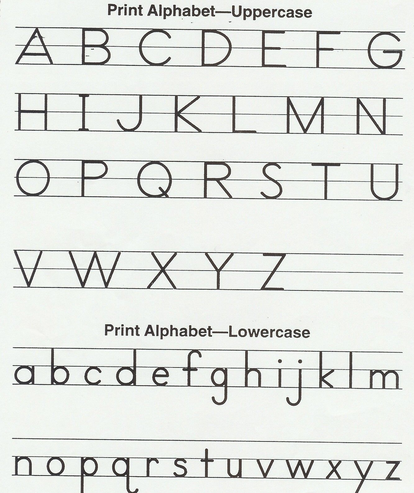 Handwriting Worksheets Kindergarten Alphabet