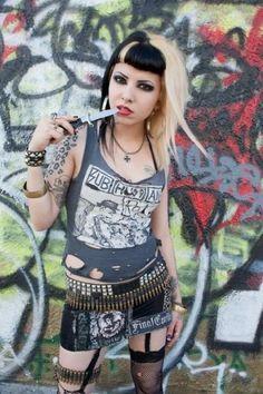 Hardcore tattoo goth punks