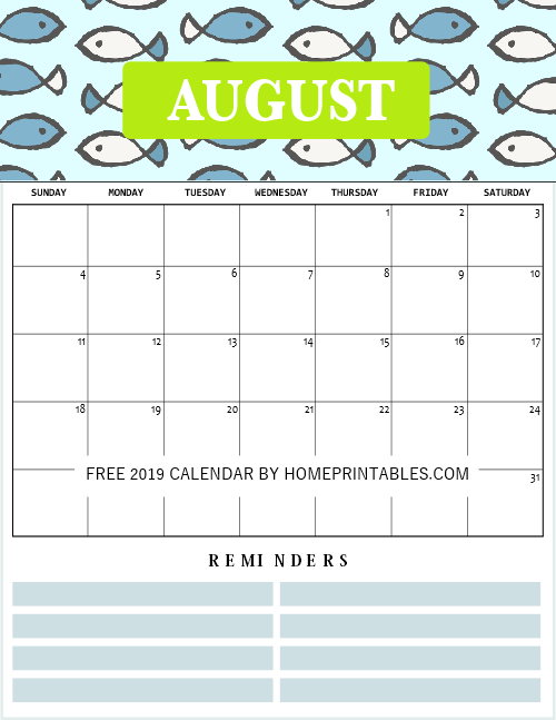 photo relating to Free Printable Calendar August named Lovely August 2019 Printable Calendar August 2019 Calendar