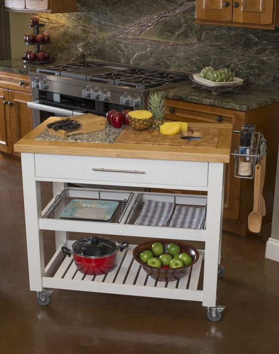 Chris & Chris Pro Chef Kitchen Island Prep Station With