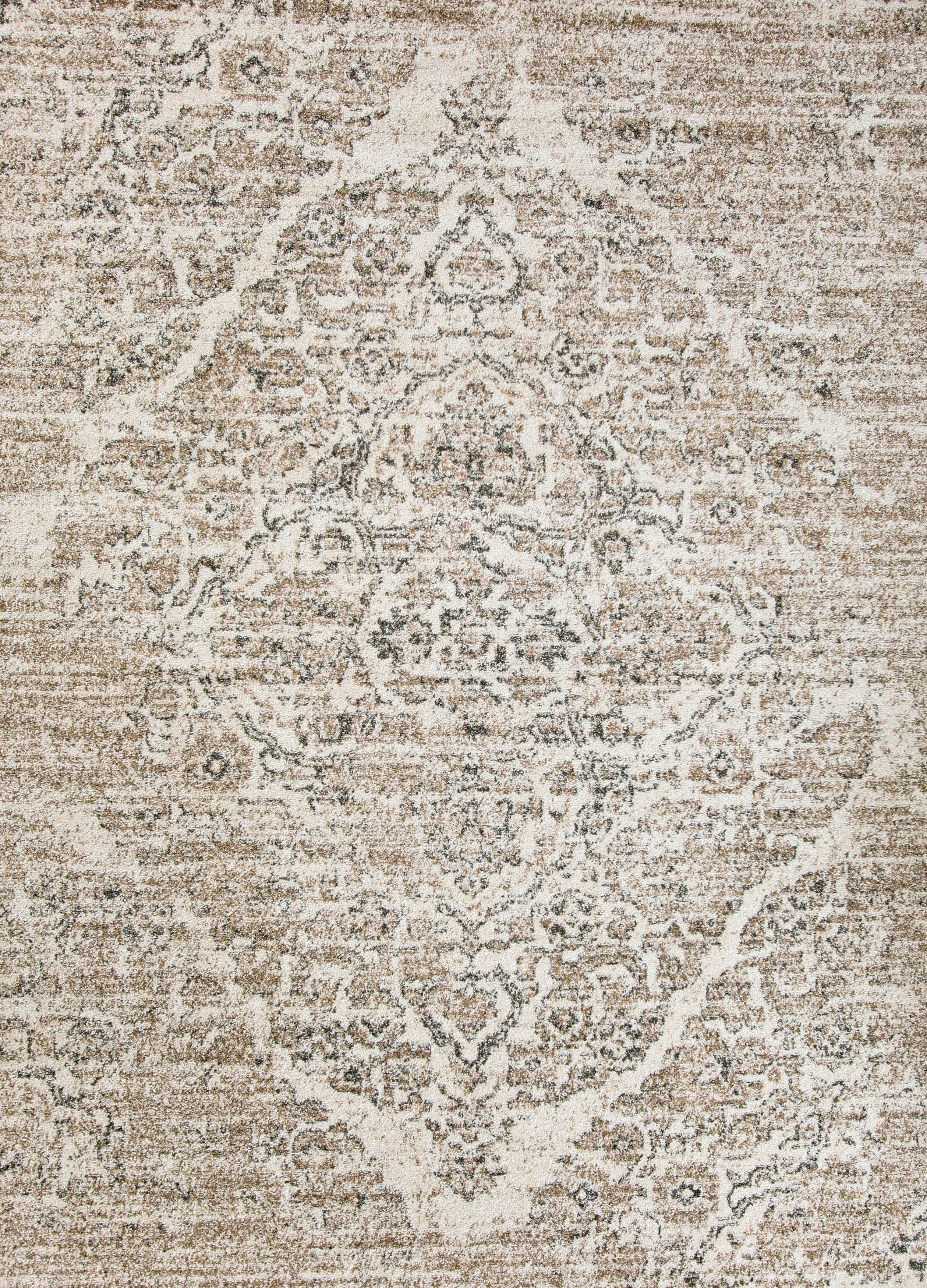 b6f9838bc7c 4620 Distressed Cream 7 10x10 6 Area Rug Carpet Large New