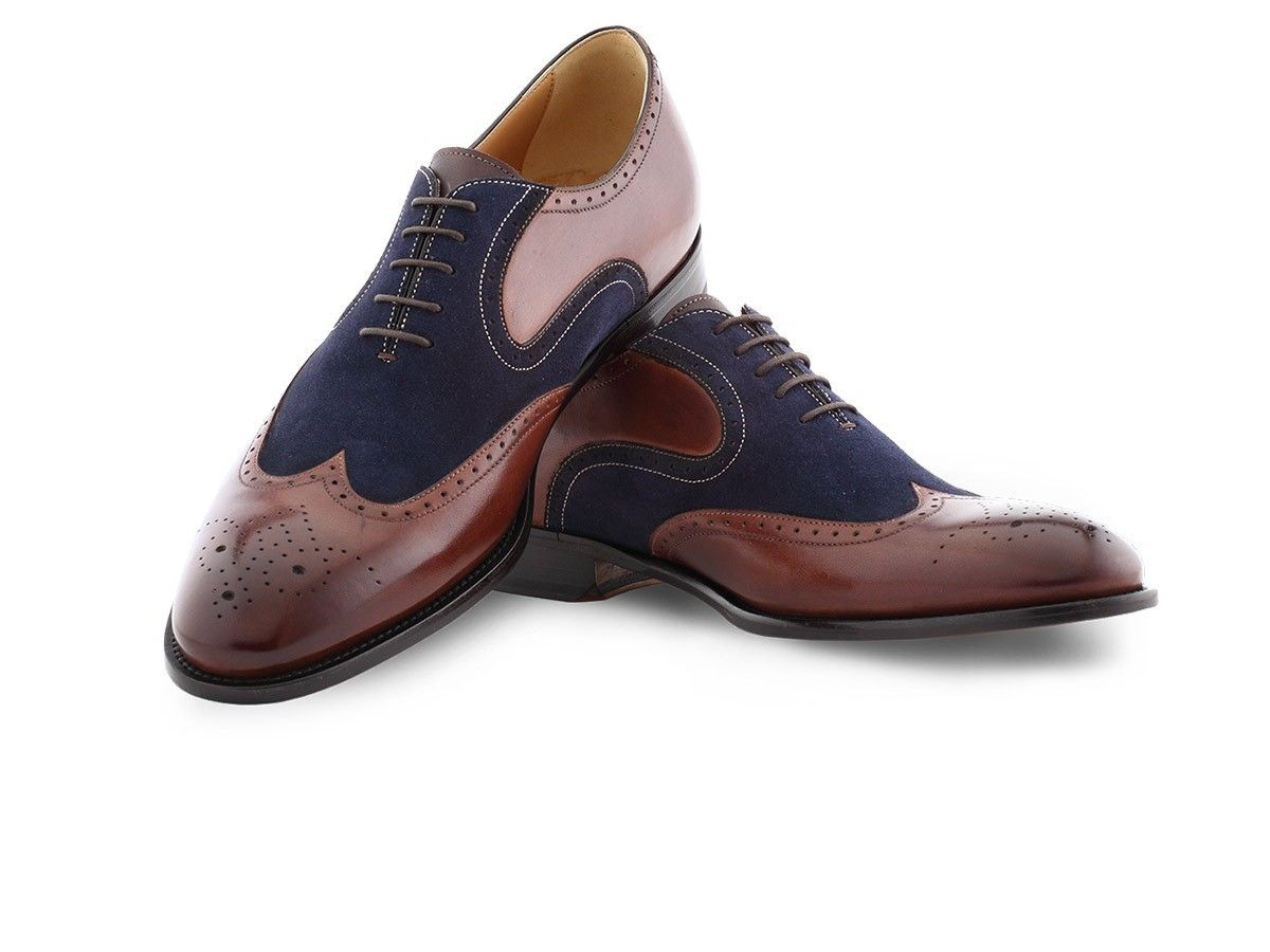 Paul Malone Goodyear Welted Full Leather Wing Tip Dress Shoes