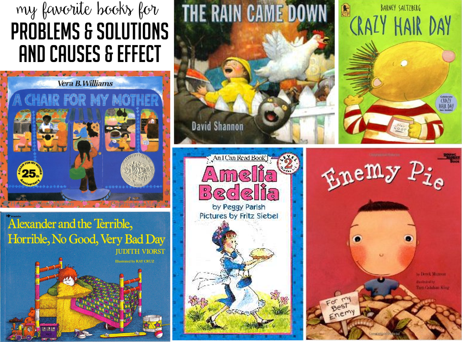 Books For Teaching Problem And Solution Cause And Effect