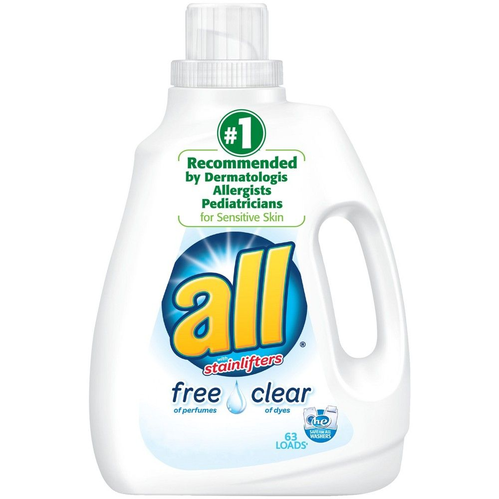 All Ultra Free Clear He Liquid Laundry Detergent 94 5oz 63 Loads
