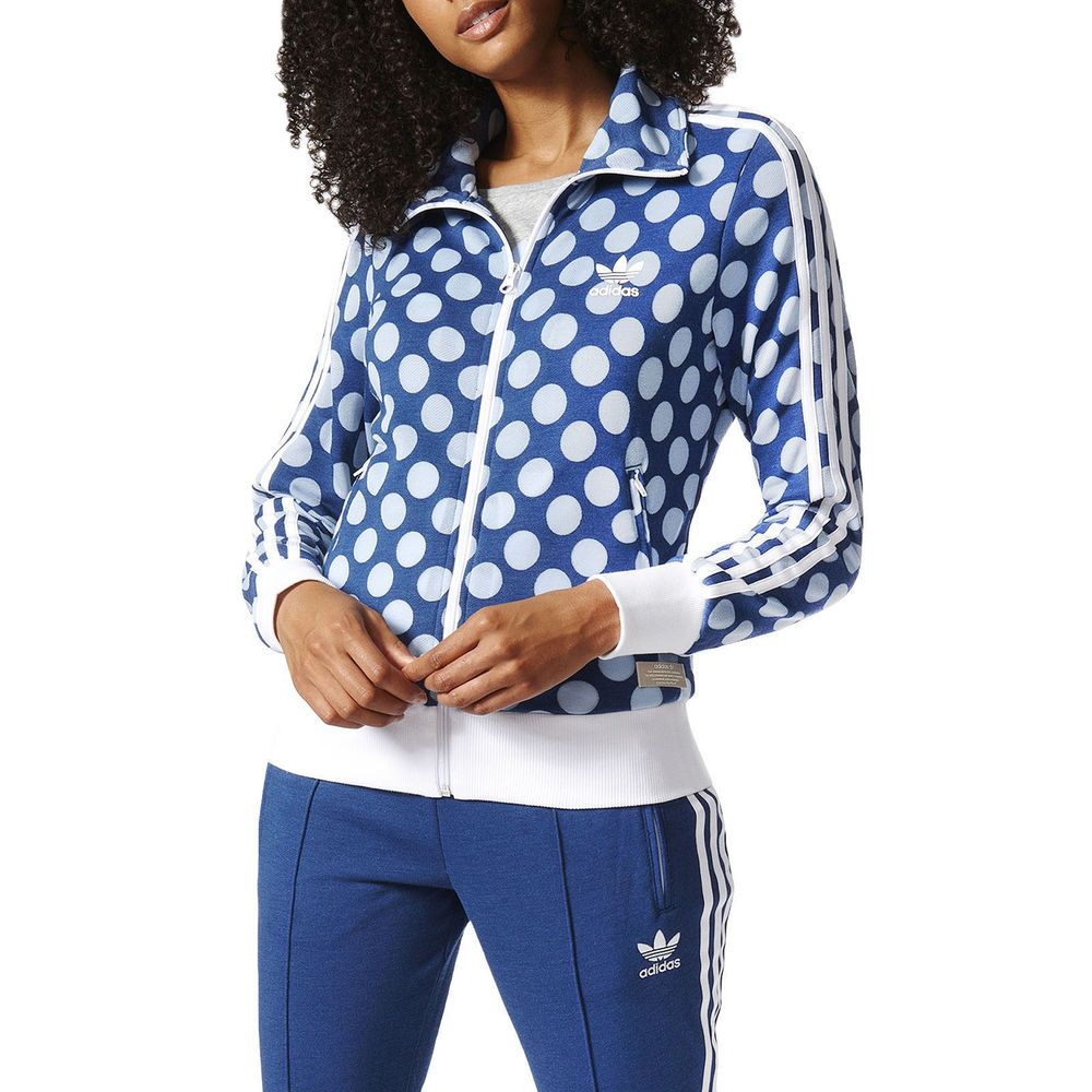 Adidas Originals firebird track jacket polka dot L