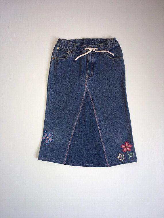 girls size 10 jeans skirt upcycled jeans skirts pinterest