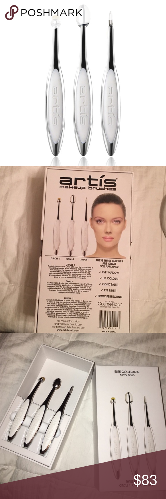 Artis Makeup brushes Used once and clean with brush