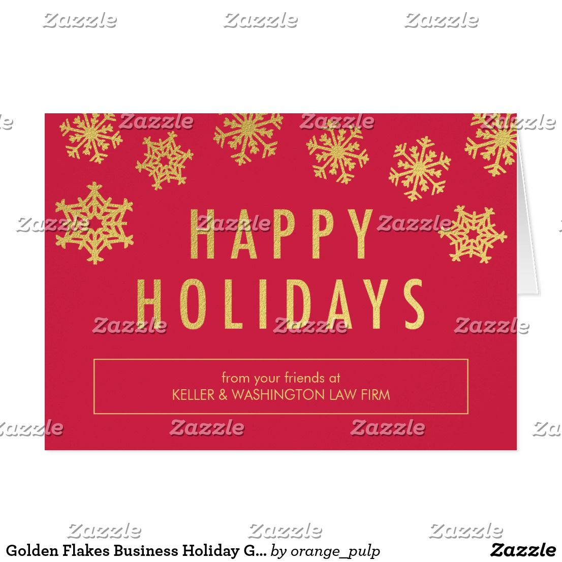 Golden flakes business holiday greeting card spread some joy this golden flakes business holiday greeting card spread some joy this holiday season with these chic and stylish holiday cards from orange pulp designs magicingreecefo Images