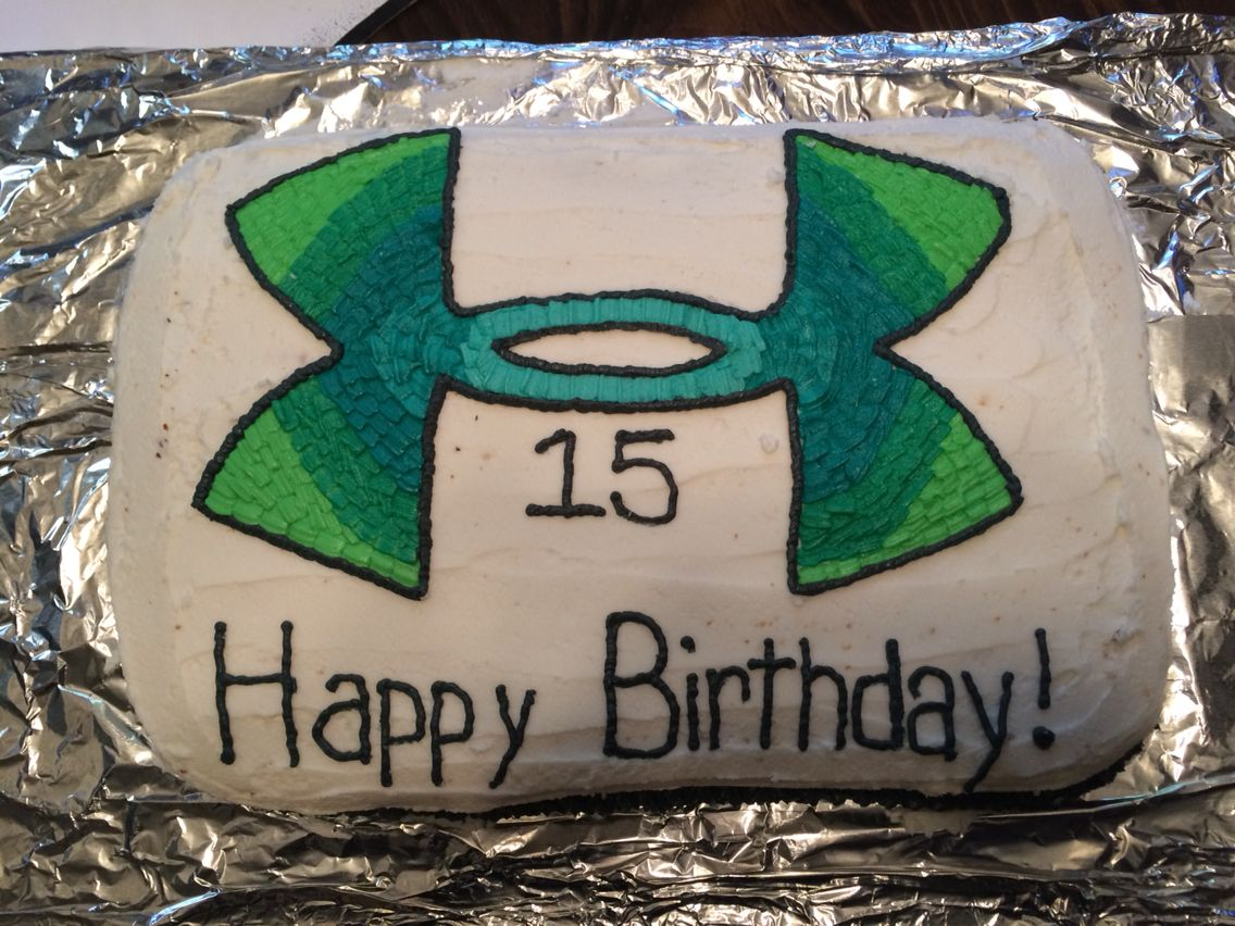 Multicolored Under Armour Birthday Cake My Boys Pinterest