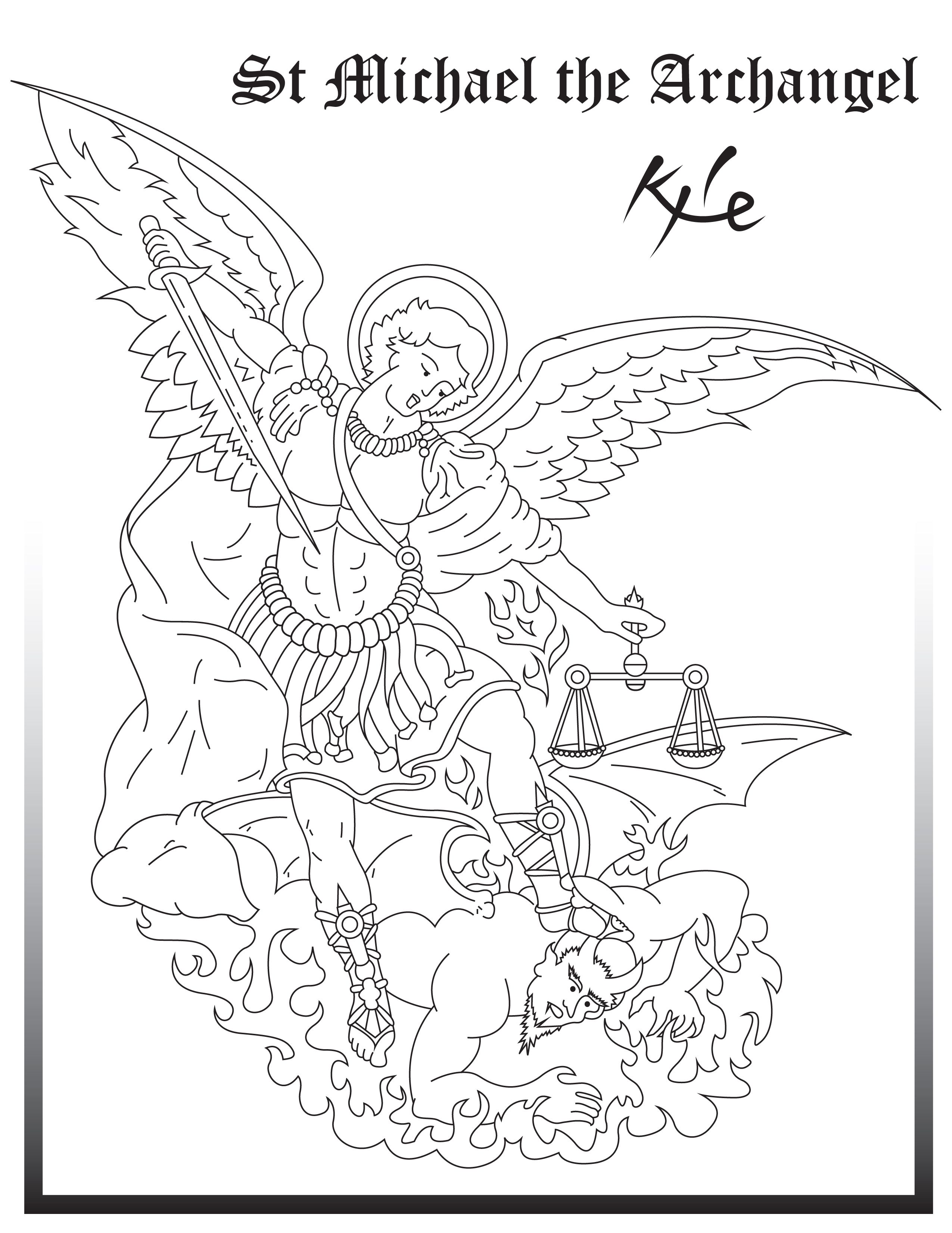 Archangel Gabriel Coloring Pages