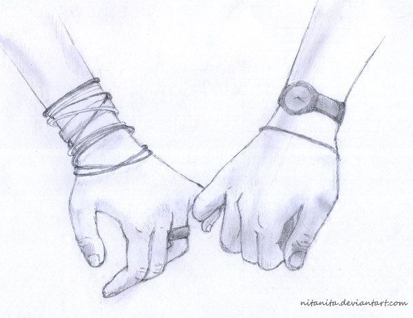 Holding Hand Drawing Couple