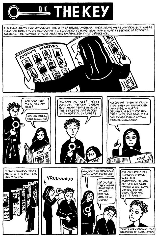 Chapter 13 The Key From Marjane Satrapi S Persepolis 1 Graphic Novel Reading Novels