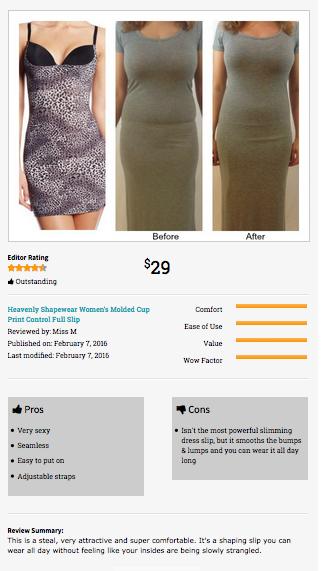8b147b39d7f Heavenly Shapewear Molded Shaping Slip Dress.  Lingerie  BeforeAndAfter