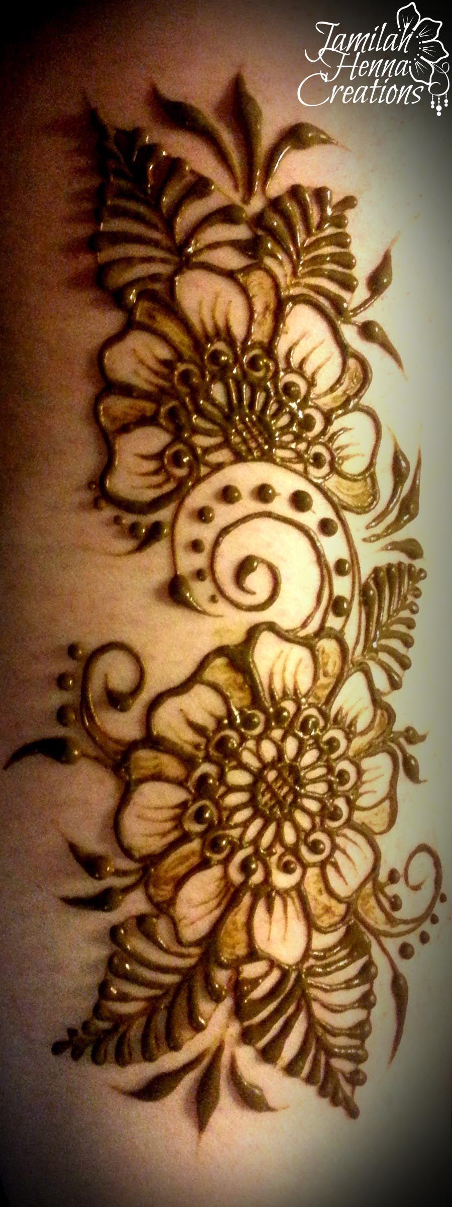 Cool new henna leaves JamilahHennaCreations tattoos