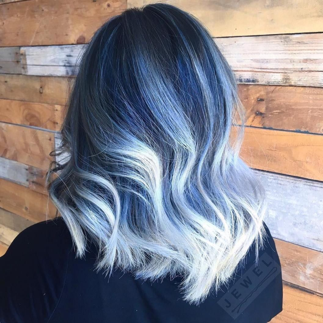 Gimme The Blues Bold Blue Highlight Hairstyles Hair Color Unique Spring Hair Color Hair Styles