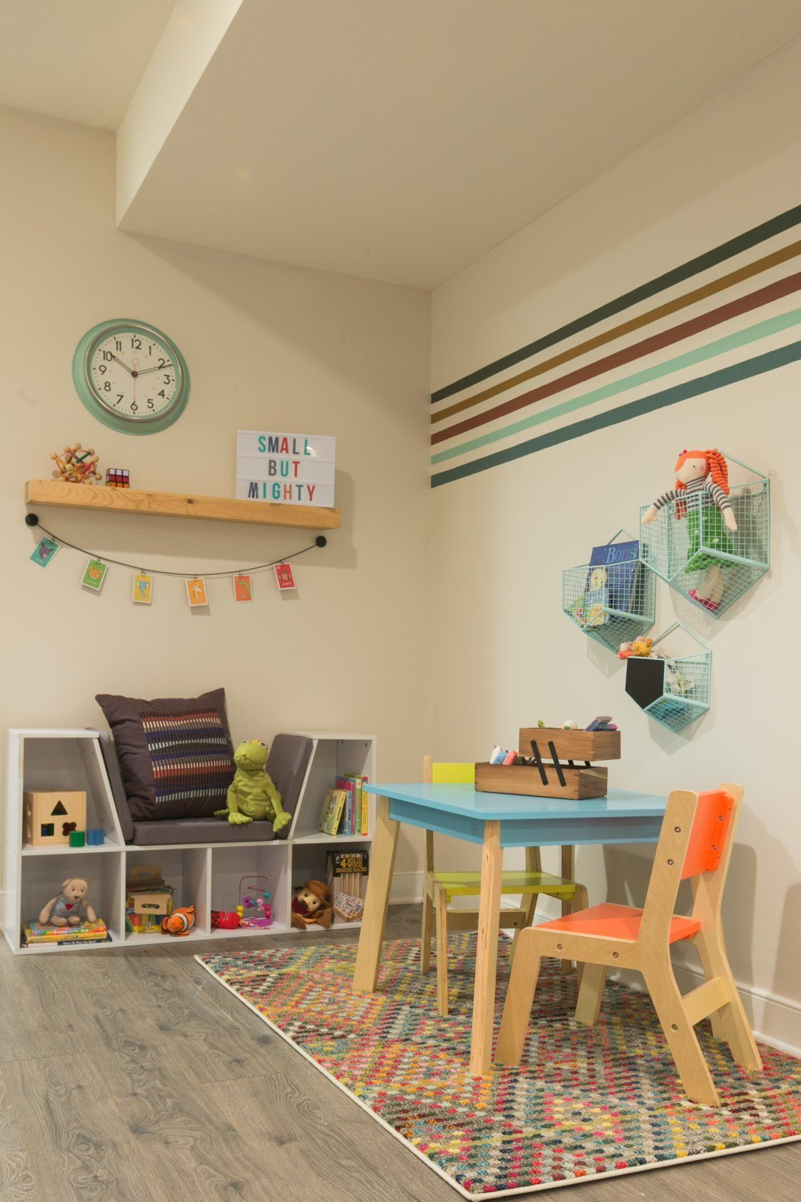 Laminate wood-look flooring is ideal for a child's playroom. Not only does this textured style look great, it's both easy to install and maintain. Watch The Weekender now for more smart DIYs!