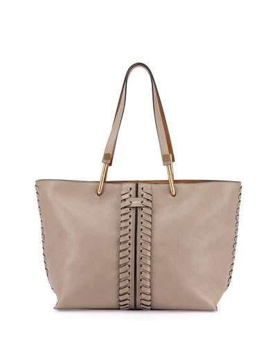 Chloe Keri Medium Leather Tote Bag Gray Top Reviews