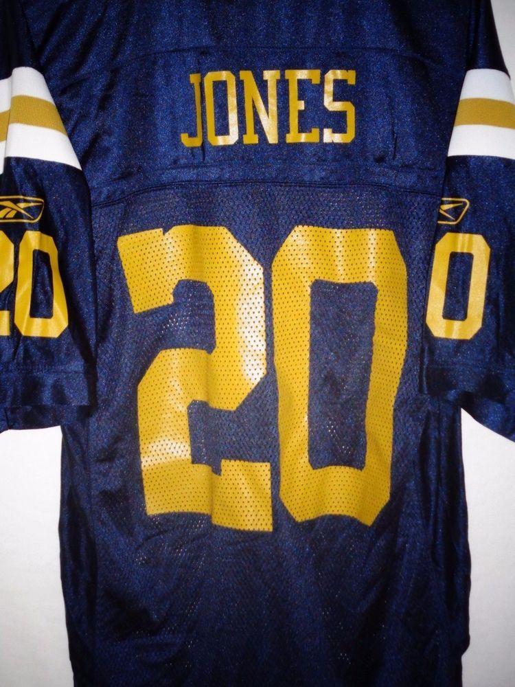 outlet store d4232 e9558 Thomas Jones men's medium navy blue New York Jets throwback ...