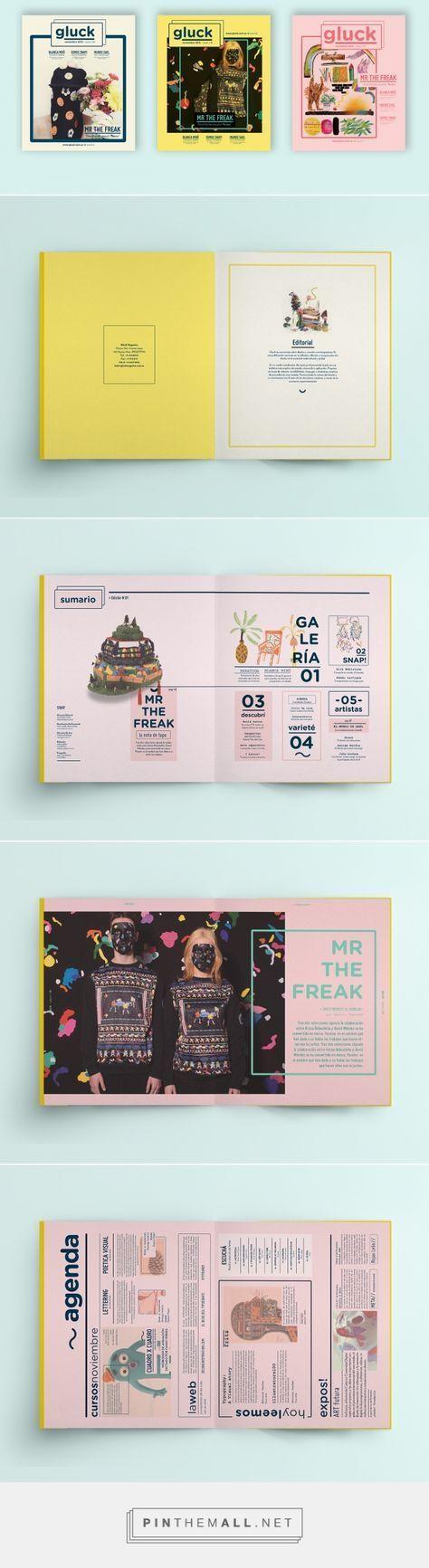 Revista Gluck on Behance - #editorial #diagramação