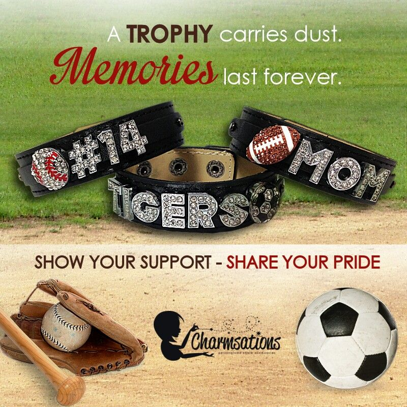 Make all your memories into bracelets! Great for teams! http://www.charmsations.com/#deegoings