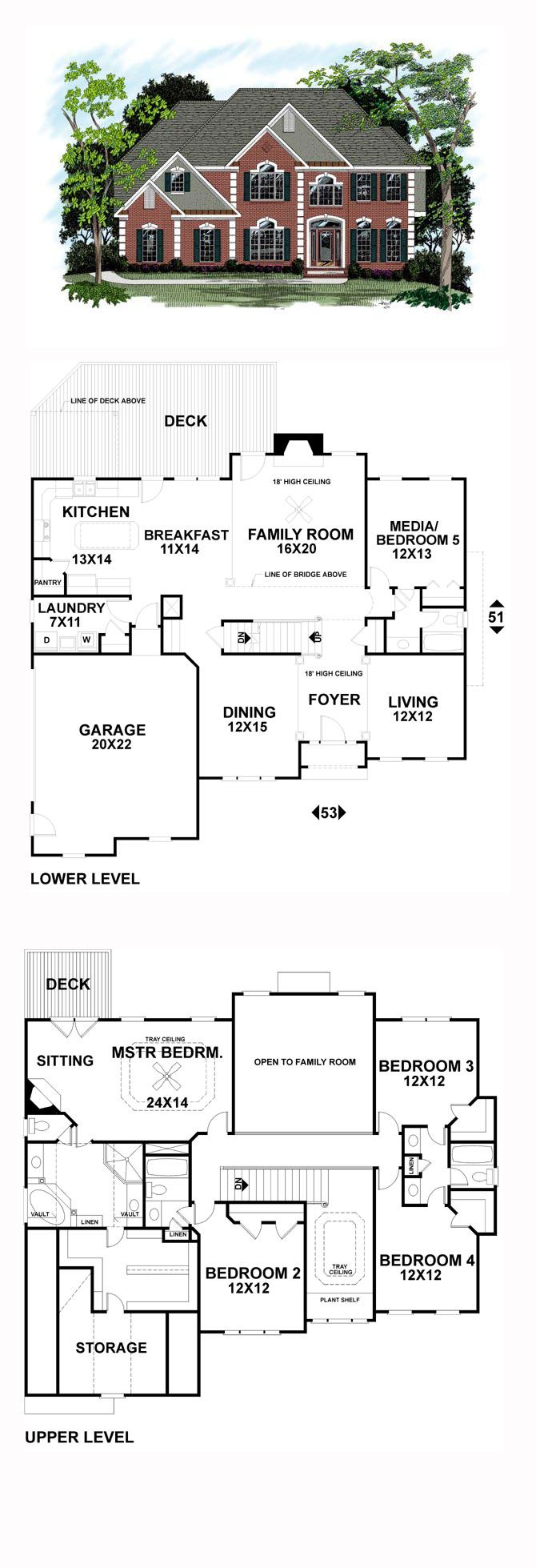 Colonial Style COOL House Plan ID chp 17896