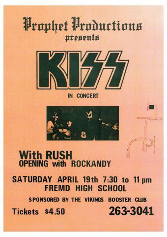 Concert Poster. I seen KISS play the Commodore on Granville, years before they became big