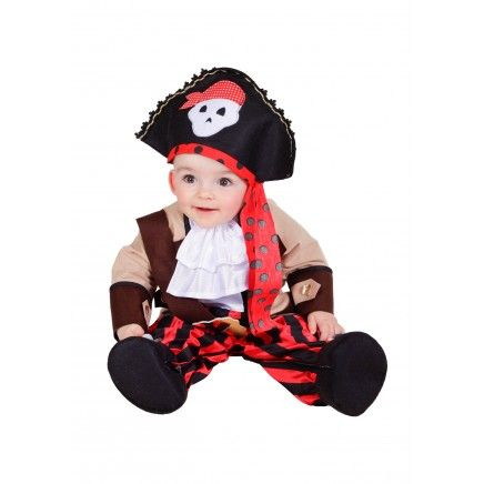 Disfraz de pirata rojo para bebé Disfraces de halloween para los - trajes de halloween para bebes
