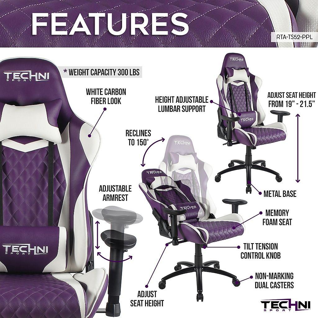 Techni Sport TS52 Ergonomic High Back Video Gaming Chair