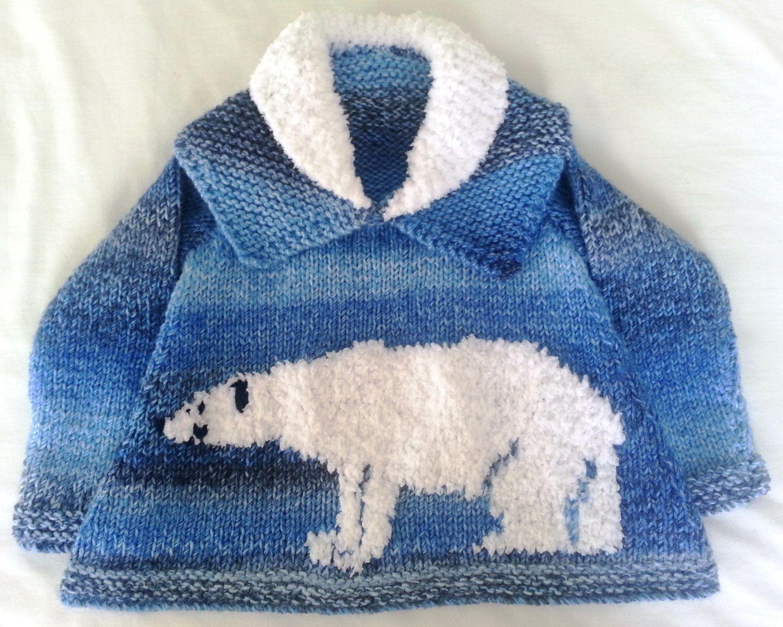 Polar bear childs sweater knitting pattern by iknitdesigns polar bear childs sweater knitting pattern by iknitdesigns bankloansurffo Choice Image