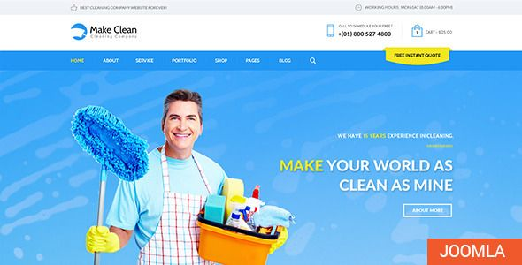 Make Clean Cleaning Company Joomla Template  Make Clean is a - spreadsheet for cleaning business