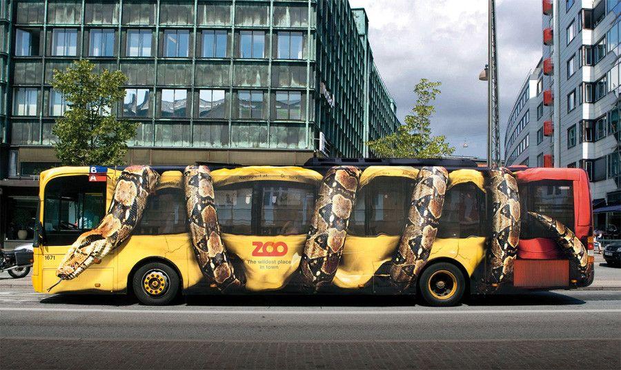 Vehicle Wraps Givemehelp Blog Bus Advertising Copenhagen Zoo Guerilla Marketing