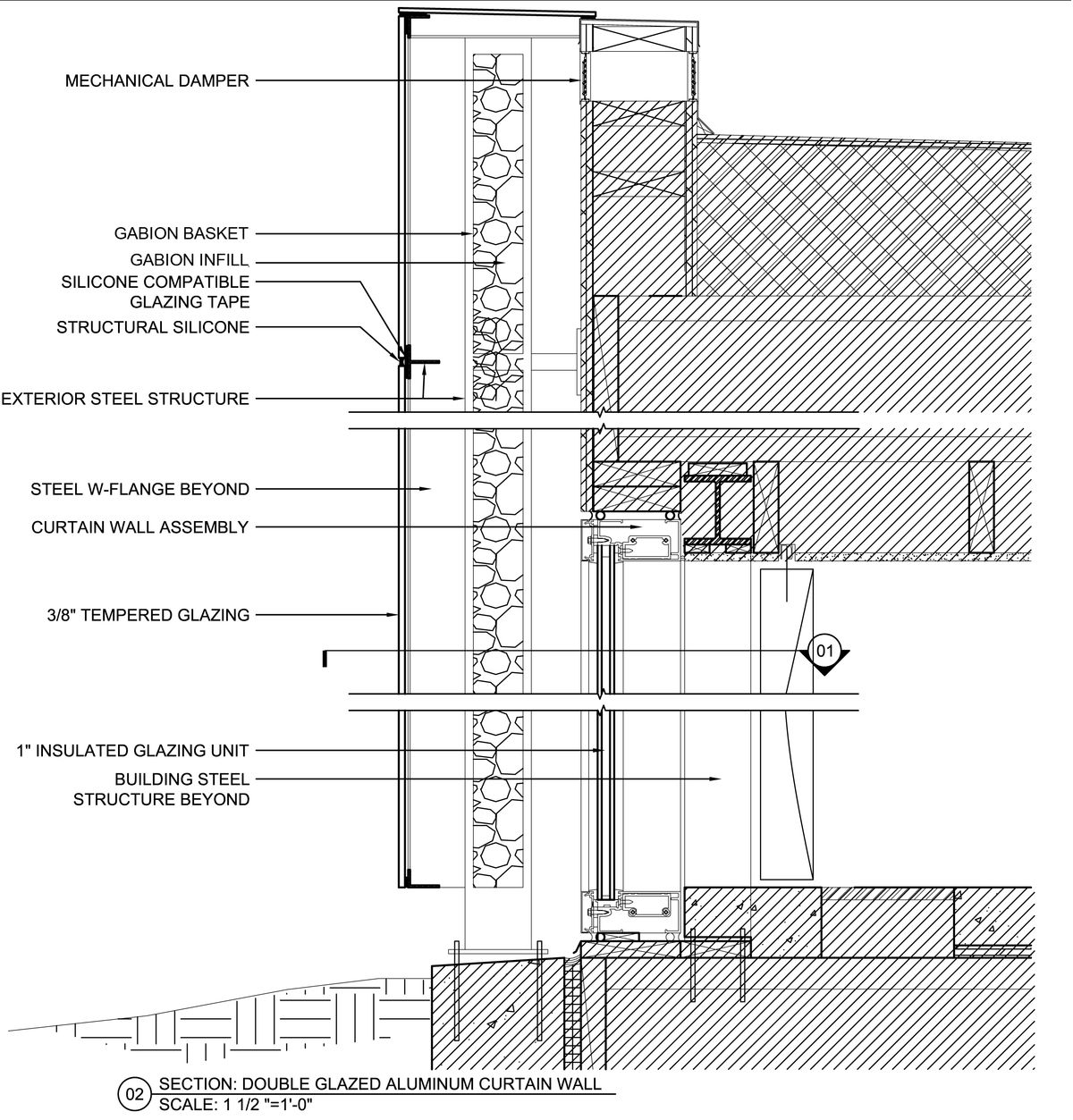 Curtain wall facade elevation - Curtain Wall Detail Bing Images