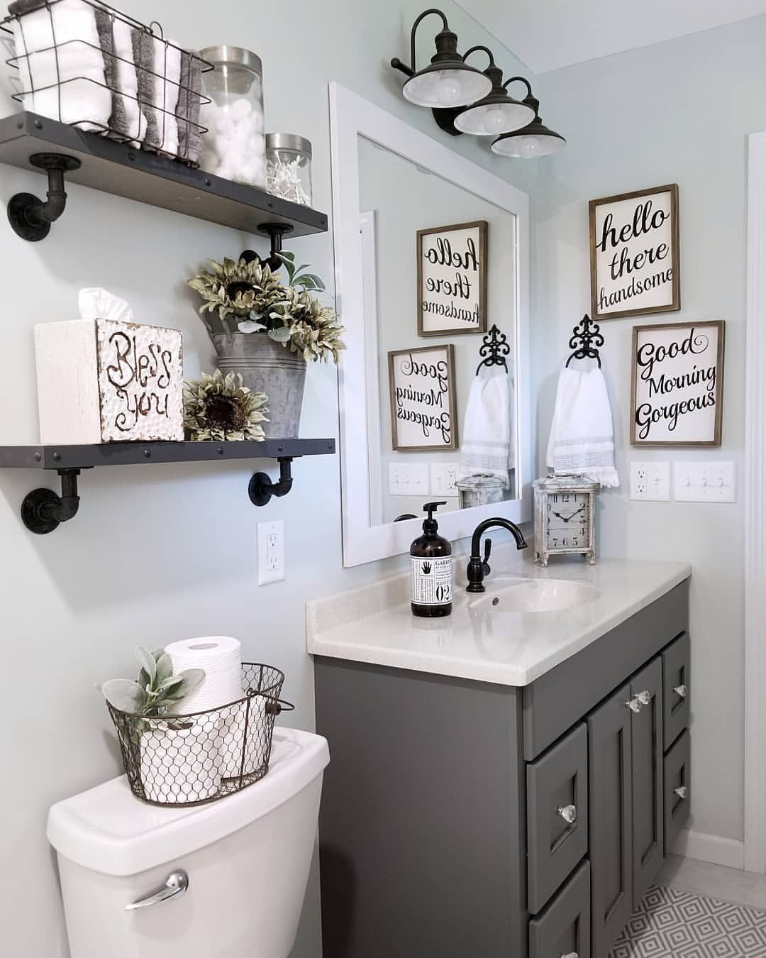 These Mirror Ideas Will Surely Be Useful In Making Your Bathroom Look Remarkable Keep Reading Bathroom Small Bathroom Decor Restroom Decor Bathroom Decor