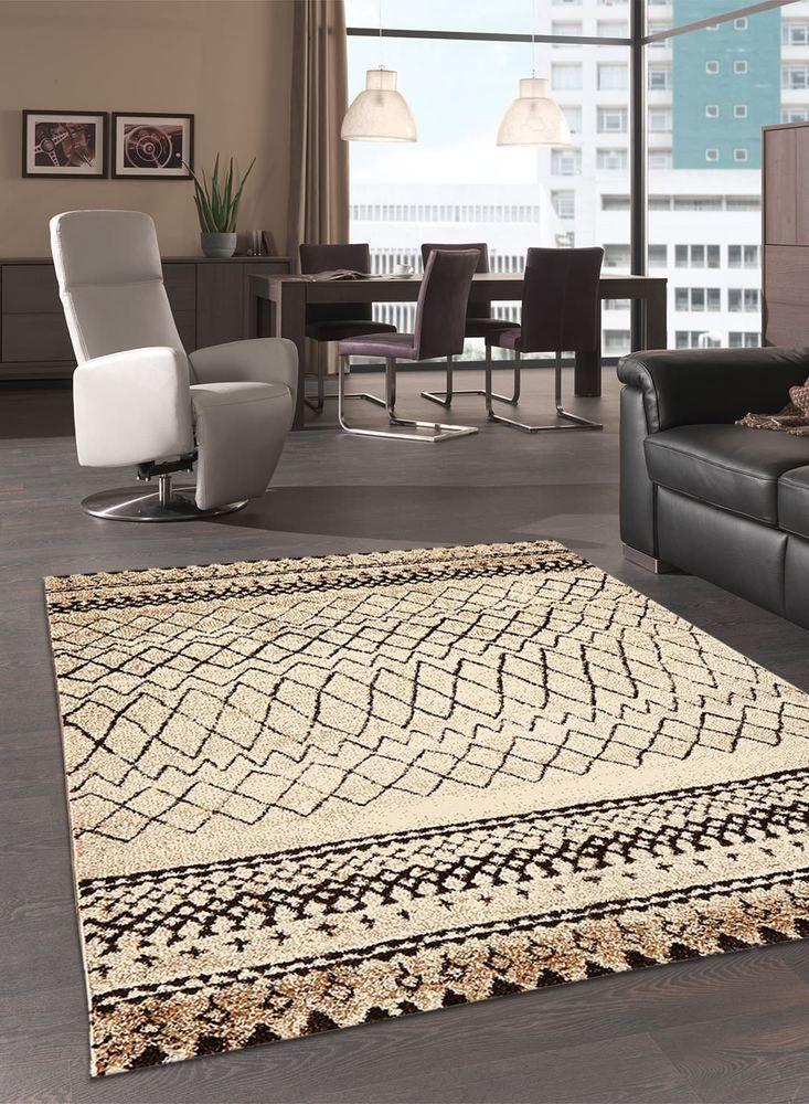 Unamourdetapis tapis berber morocco tribal tapis de salon moderne design beige