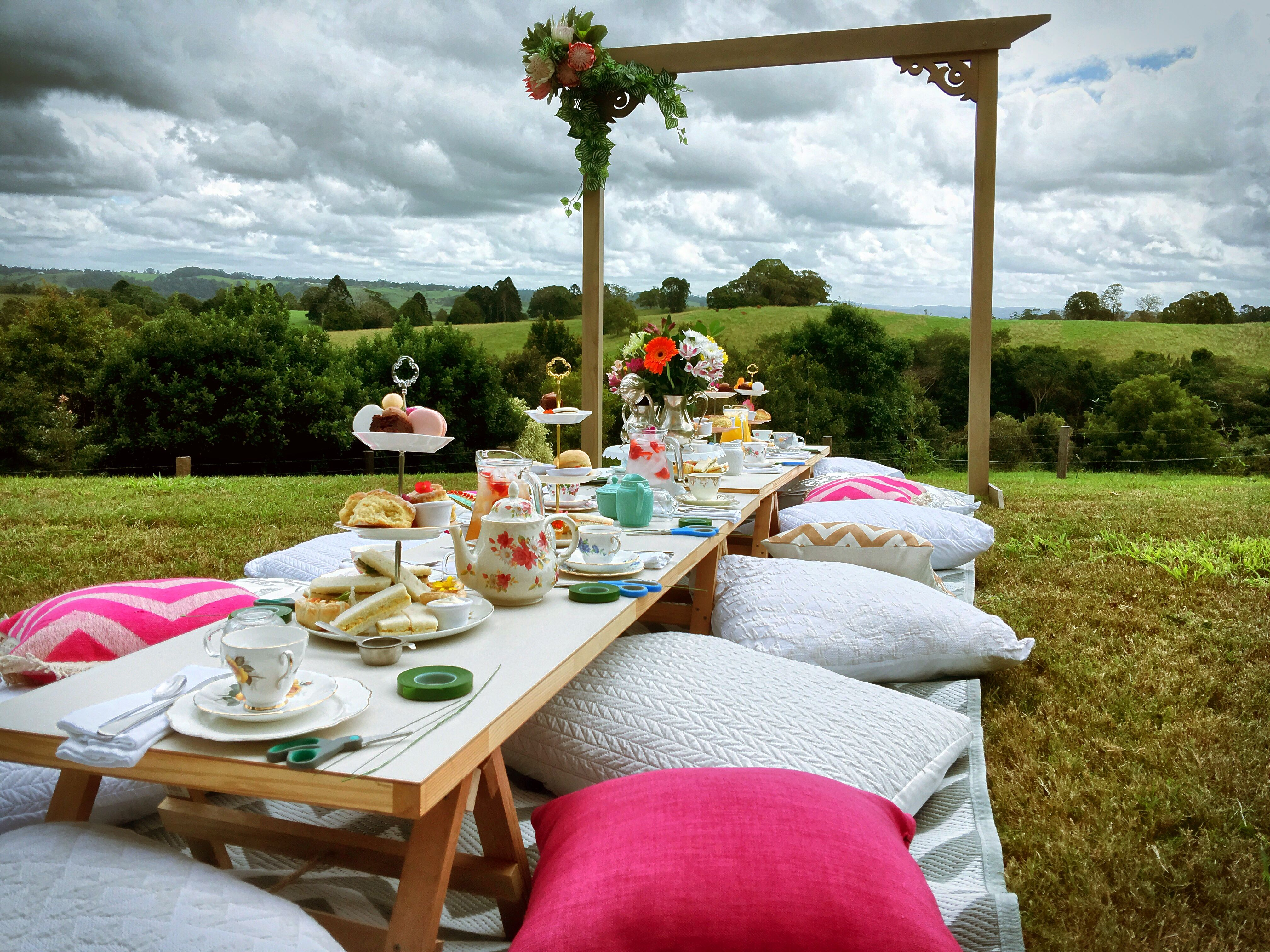 Flower Crown, high tea for a lovely Bride to Be By Deep Love Picnics