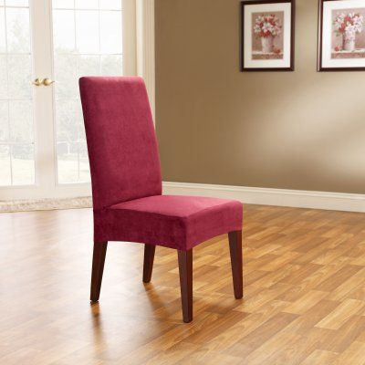 Sure Fit Soft Suede Shorty Dining Room Chair Slipcover Sure Fit Soft Suede Short Dining Room Chair Covers  36674  Products