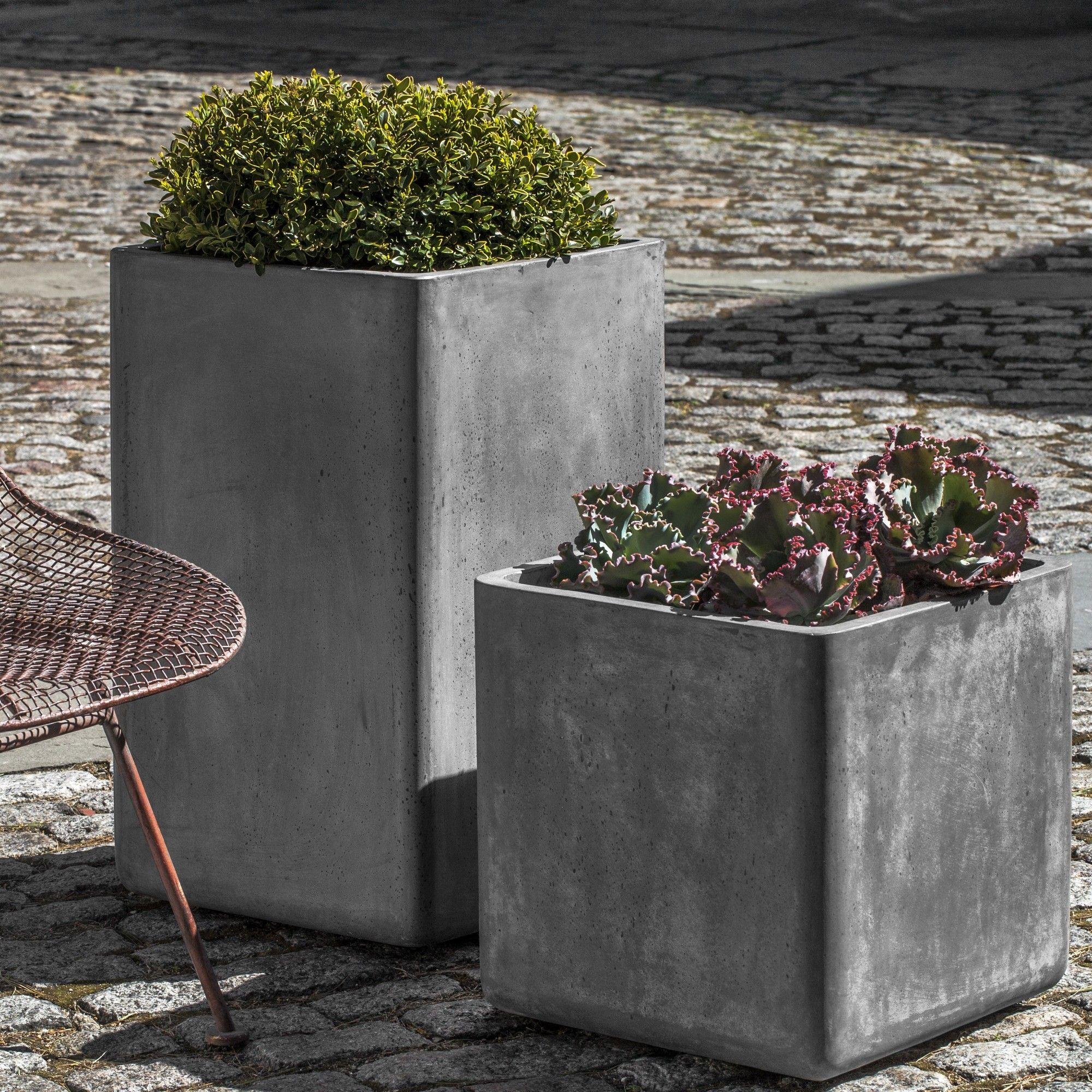 Urban 2 Piece Square Pot Planter Set