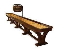 A Full Size Shuffleboard Table