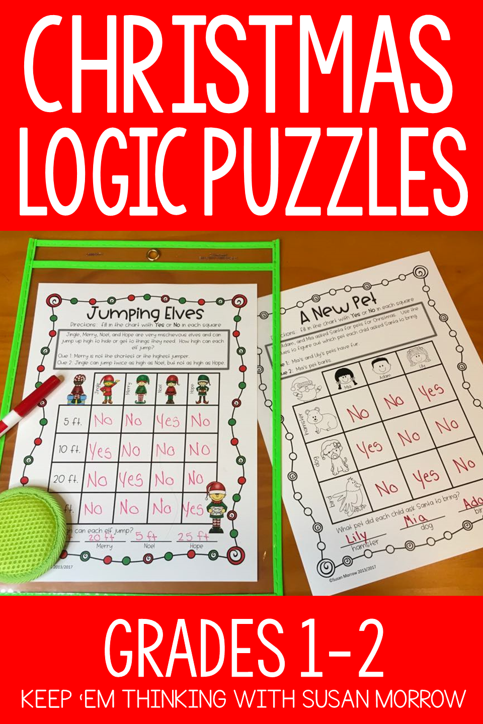 you will your students will love these48 logic puzzles with a christmas theme these printable logic puzzle worksheets help your students develop skills of