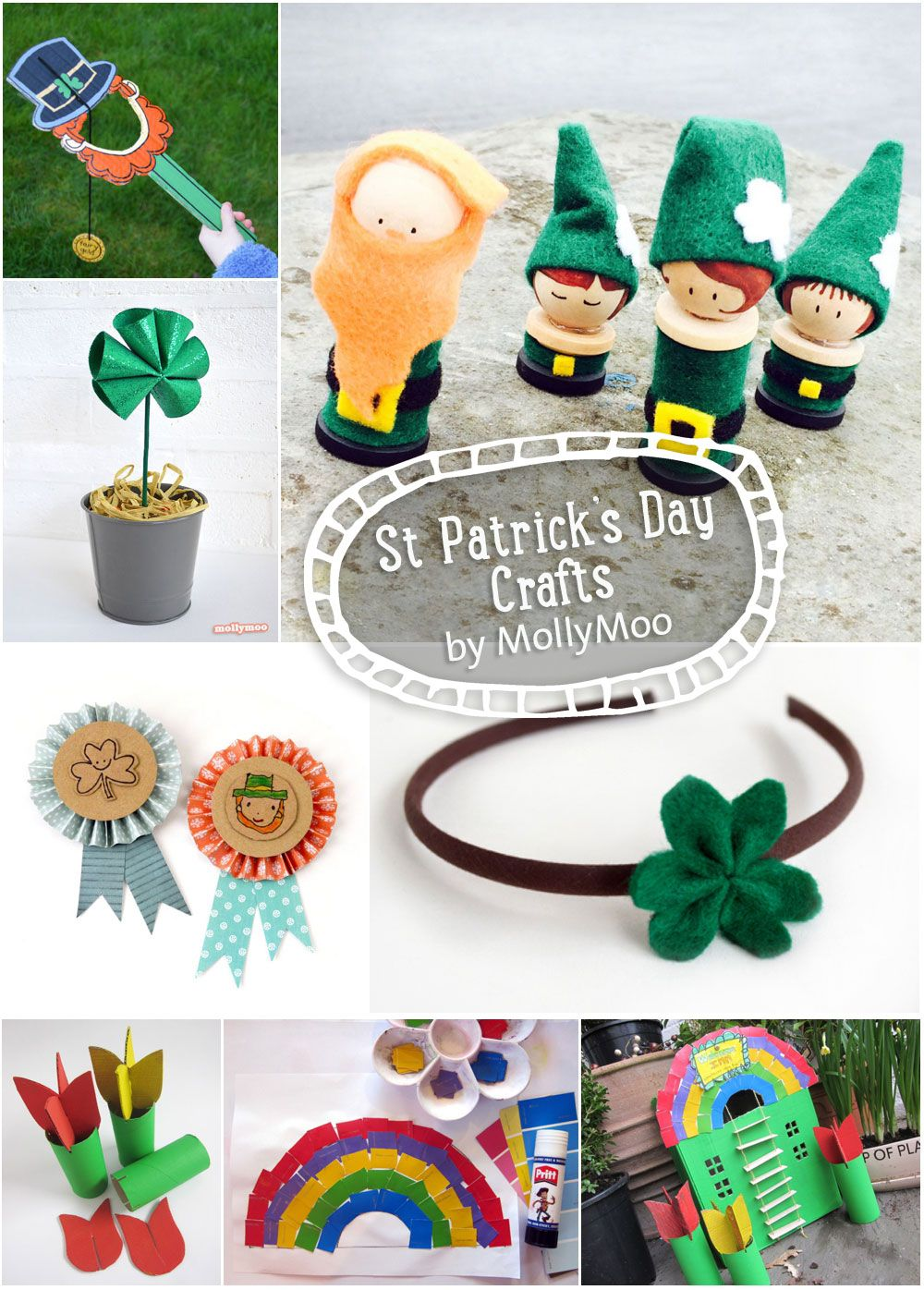St pattys day crafts - Round Up Of St Patrick S Day Crafts By Mollymoocrafts Com