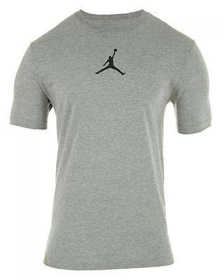 7cc5e7542a37 Nike Jordan 23 7 Tee Mens 612198-063 Grey Cotton Blend Logo T-Shirt ...