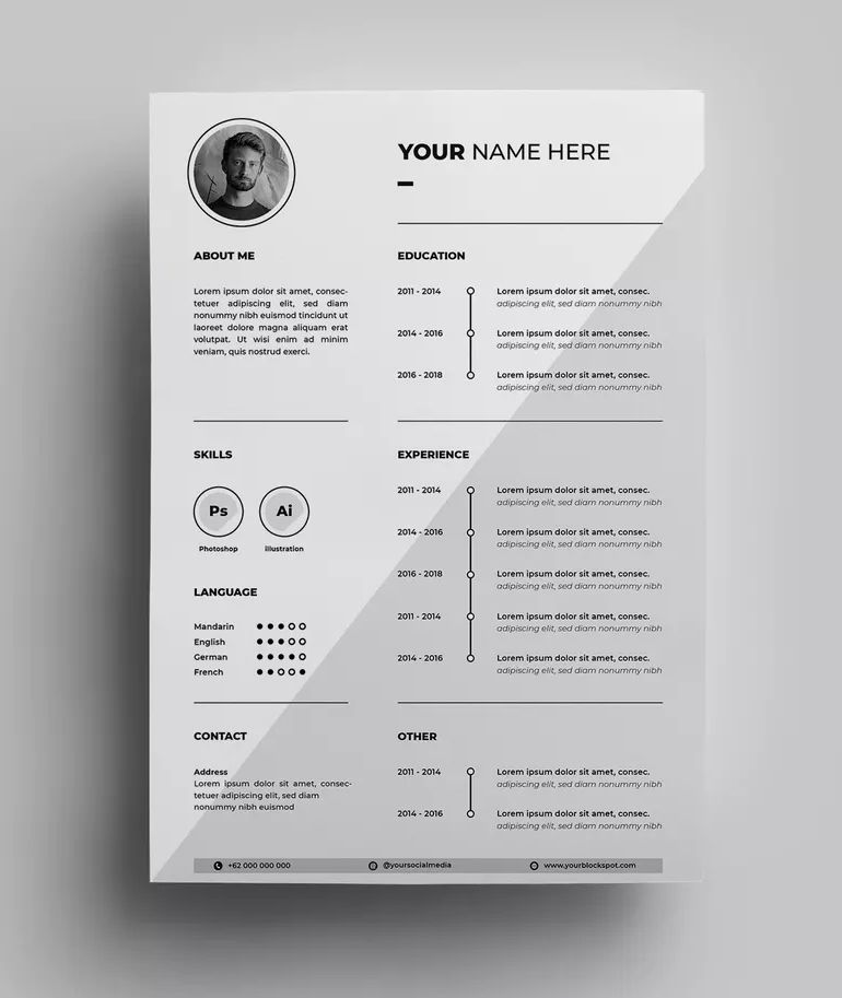 Resume Design Templates 06 By Surotype On Resume Design Template
