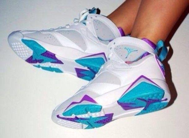 jordan 7 blue and purple