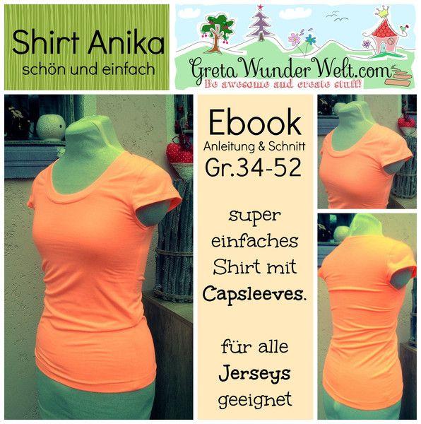 Ebook | Shirt Anika von GretaWunderWelt auf DaWanda.com