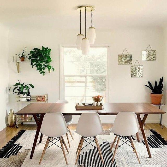 Colca Wool Rug Mid Century Modern Dining Room Mid Century Dining Table Dining Room Small