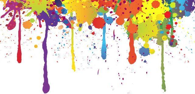 Astratto Sfondo Pallavolo Disegno Vettoriale: Sfondo Vettoriale Con Colorati Schizzi Di Pittura