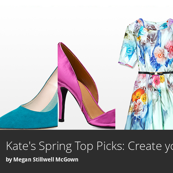 Love florals and bright shoes for spring!