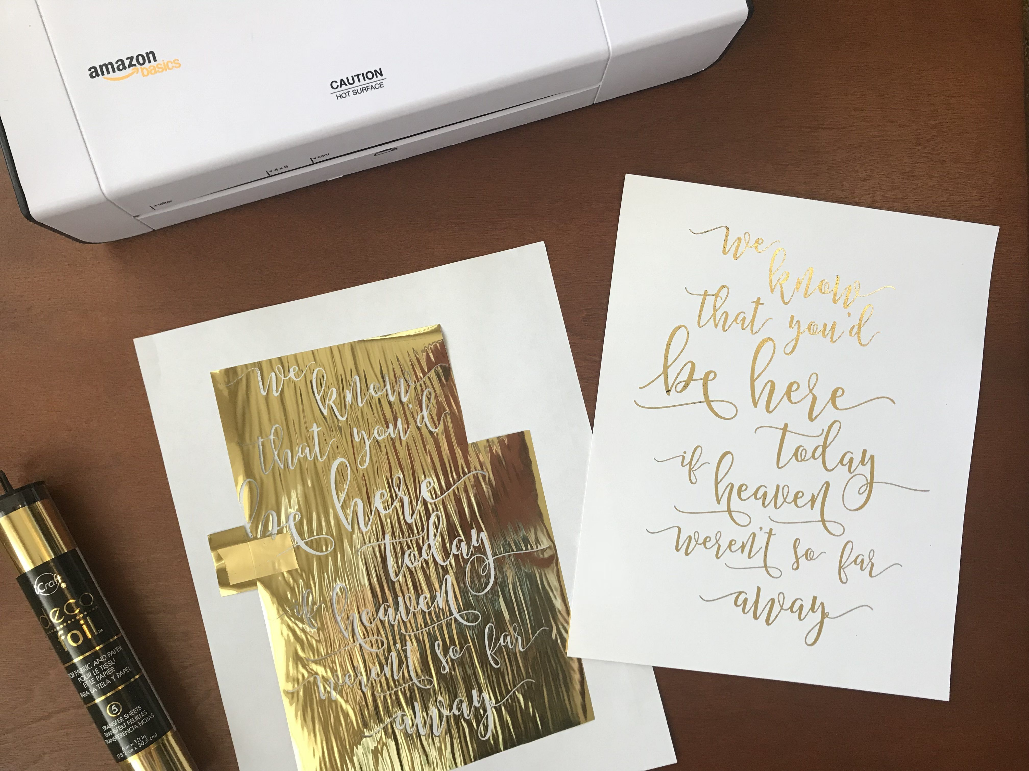 Diy Gold Foil For Signs And Invitations Gold Foil Wedding