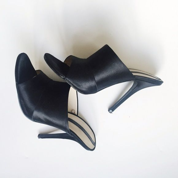 c16e36a4013 Zara satin mules black satin mules from Zara s 2014 collection. worn once